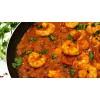 Grote garnalen curry